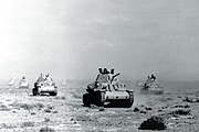 Italian tanks during Italy's invasion of Egypt