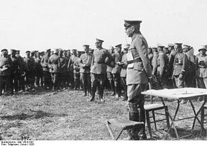 Truppenamt - Von Seeckt on Reichswehr maneuvers, 1926