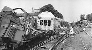 Langenweddingen level crossing disaster - Photo of the disaster