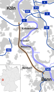 Bundesautobahn 555 map.png