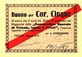 Buono per Corone Cinque delle Cooperative Operaie di Trieste, Istria e Friuli (1914).jpg