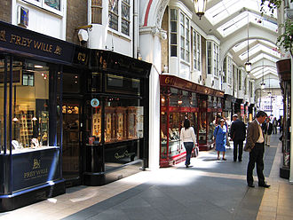 Burlington Arcade - Shop fronts inside the arcade