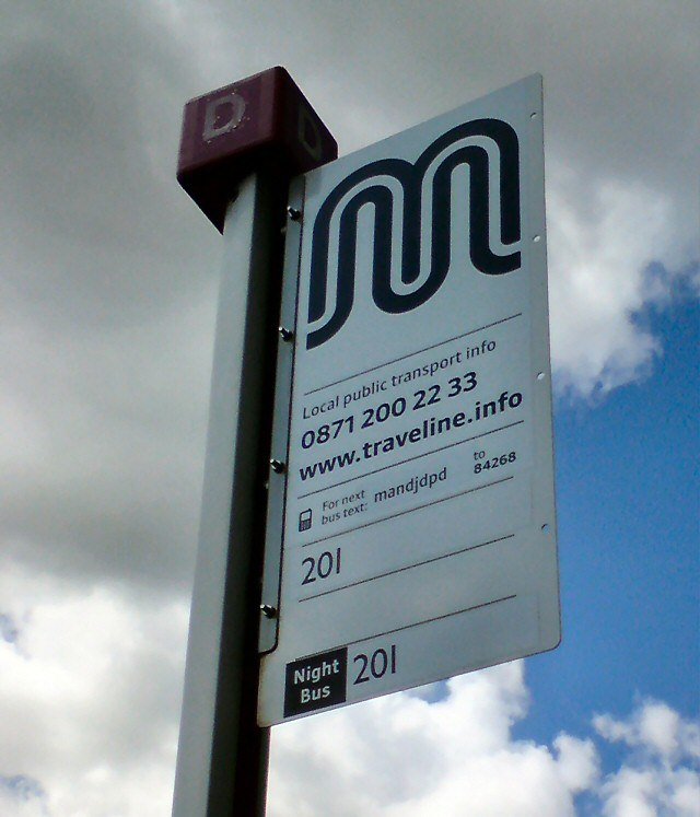 Bus stop D in Denton (geograph 3007109)
