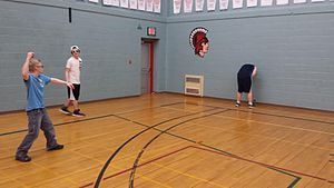 """Butts Up - In the """"Blue Gooch"""" variation of the game, the player who is """"out"""" must keep their legs apart, so the thrower has a chance at shooting them in the perineum."""