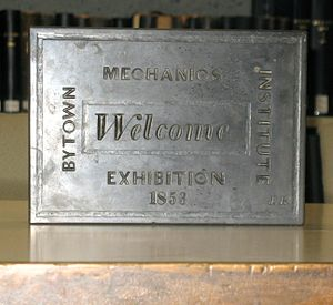 Bytown Mechanics' Institute - Image: Bytown Mechanics' Institute cornerstone from the original building
