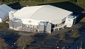 Aerial view of the CBS Arena