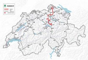 autobahn a4 karte Autobahn 4 (Schweiz) – Wikipedia