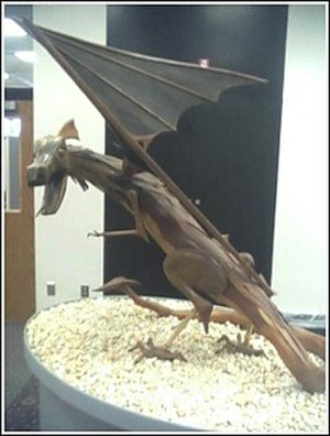 State University of New York at Cortland - Dragon Statue in College Library, Fall 2006