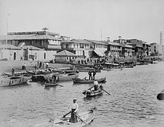 COLLECTIE TROPENMUSEUM De haven van Port Said met het Grand Hotel des Pays Bas TMnr 60044594.jpg