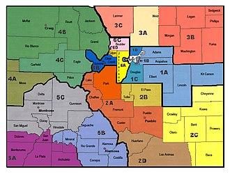 Colorado State Patrol - Image: CO CSP Districts