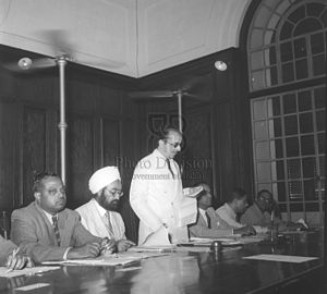 Secretary to Government of India - Image: C H Bhabha inaugurating meeting of the Indian Oilseeds Committee