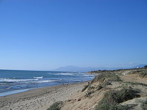 Marbella - Dunes of Artola, the Sierra Blanca in the background