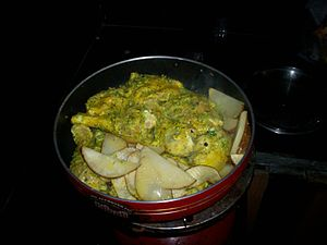Cafreal - Cafreal simmering on a stove