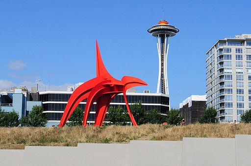 Calder Eagle + Space Needle 06