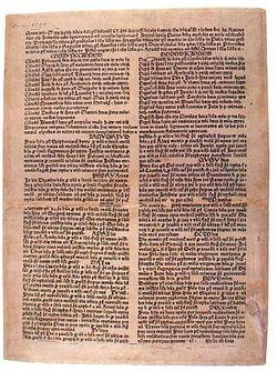 Calendarium cracoviense, an almanac for the year 1474.