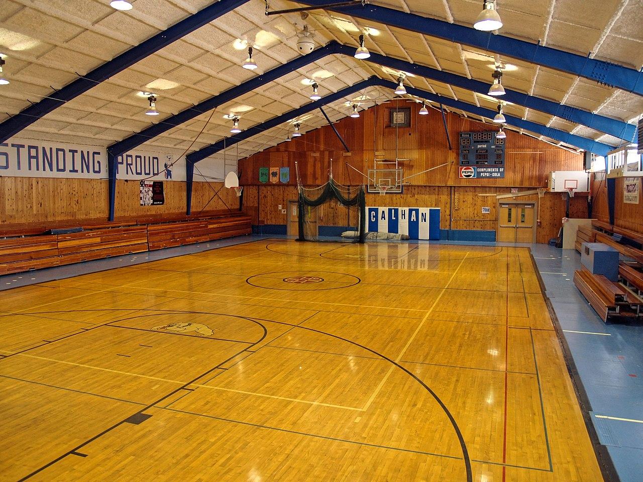 Gymnase - Lycée - Terrain de basket - Sport - SchoolMouv - Géographie - CM1