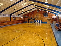 High School gymnasium.