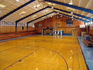 Gym - Calhan High School gymnasium in Calhan, Colorado