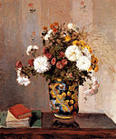 Camille Pissarro (French, 1830-1903), Chrysanthemums in a Chinese Vase, 1870.jpg