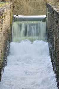 Old one-stage lock. We can see the strength of water. Due to the long exposure, water looks like cotonwool.