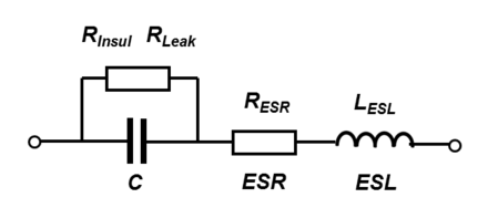 Series-equivalent circuit model of a capacitor Capacitor-Series-Equivalent-Circuit-.png