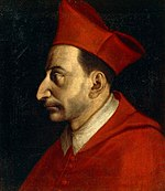 Homme vêtu de l'habit de cardinal