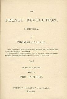 <i>The French Revolution: A History</i> book by Thomas Carlyle