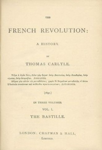 The French Revolution: A History - Title page of the first edition from 1837.