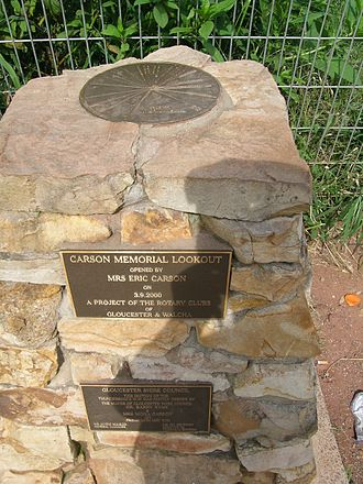 Thunderbolts Way - Monument commemorating the opening of a section of Thunderbolts Way