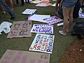 Cartazes na Marcha das vadias de 2013 em Brasília.jpg