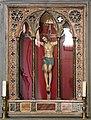 Casalguidi, san pietro, interno, oratorio della compagnia del corpus domini, crocifisso processionale del 1954.jpg