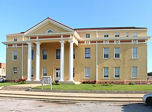 National Register of Historic Places listings in Cass County, Texas - Image: Cass County Courthouse 2015, Linden, TX