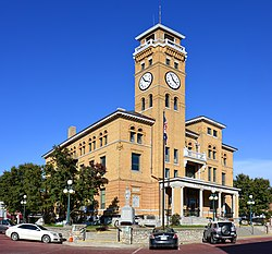 Centerpiece of the Harrisonville Courthouse Square Historic District