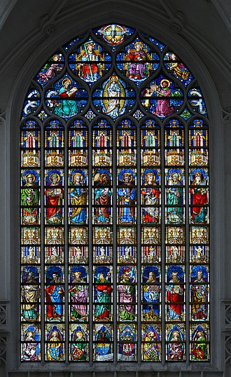 Cathedral of Our Lady (Antwerp) - Stained glass window