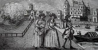 Richard Bertie (courtier) - The couple, their daughter and wetnurse going into exile