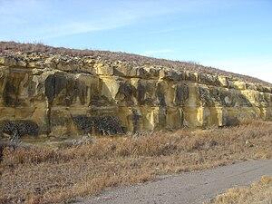 Cedar Bluff State Park - Limestone on the edge of Cedar Bluff