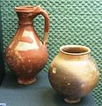 Celtic painted flagon and beaker 1st cBC Budapest IMG 1077.JPG