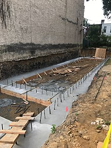 Concrete slab wikipedia for Cost of poured concrete foundation walls