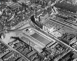 Centenary Square - Aerial view of the area in 1932