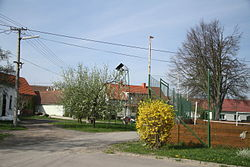Center of Dolní Lažany, Třebíč District.JPG