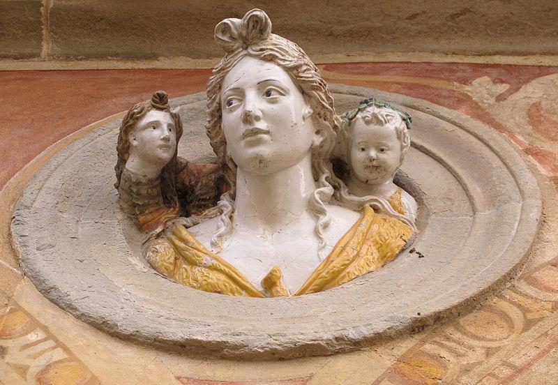 File:Certosa di fi, chiostro grande, tondi santi di giovanni della robbia A07.JPG