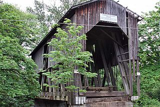 Chambers Covered Bridge historic bridge in Cottage Grove, Oregon, USA