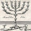 Chandelier d'Or. Carte du voïage des Israëlites. xviie siècle.JPG