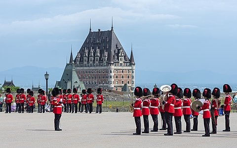 Changing the Guard ceremony in Québec during the summer