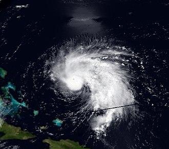 1995 Atlantic hurricane season - Image: Chantal 16 July 1995