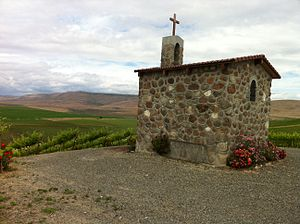 Red Willow Vineyard - The Chapel and vineyards at Red Willow Vineyards in the Yakima Valley.