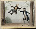 Charles Wood sits in a swing pushed by Lord Howick between t Wellcome V0050276.jpg