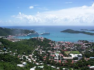 Charlotte Amalie, St. Thomas, capital of the U...