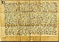 Charter by David II confirming charter to Nicholas Sutherland 17th Oct 1362.jpg