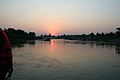 Chattris on banks of Betwa against setting sun.JPG
